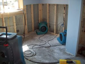 drying basement