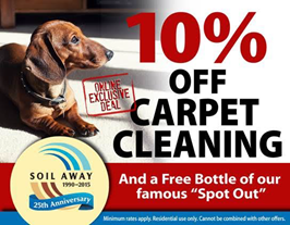 Soil Away Carpet Cleaning Coupon