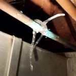flood damage cleanup frozen pipe